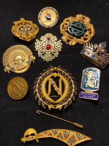 Collection of pendants from various museums