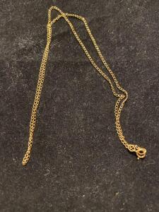 14 K gold chain .8 grams total weight