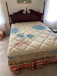 Queen size headboard and full size mattress and box springs