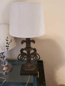 A grouping of 3 lamps (not the desk they're on)