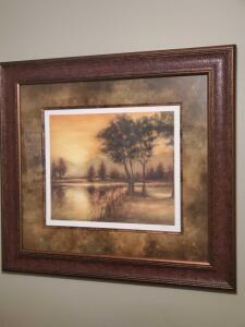 Beautifully framed and signed artist proof. 44 x 40""