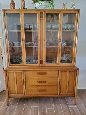 A beautiful China hutch, contents are not included