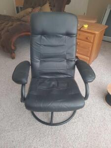 "An adjustable swivel office reclining chair, seat is 18"", back is 39"", it's 32"" across, 24"" front to back"