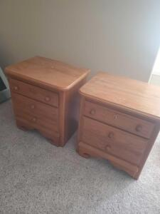 "A pair of Whitaker furniture end tables, 26"" tall, 25"" across, 19"" front to back"