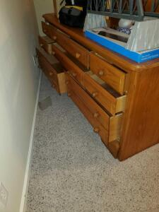 "8 drawer dresser. 65 x 19 x 31"" tall"