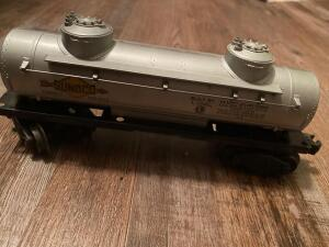 Plastic and metal Sunoco Lionel train car