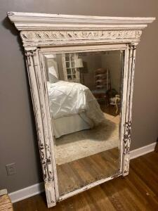 Vintage framed beveled mirror