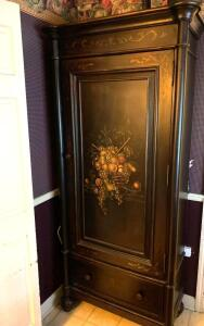 Painted decorative cabinet