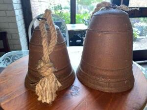 Large and medium size metal bells