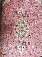 Lovely oriental style rug in foyer. Main color is rose. - 2