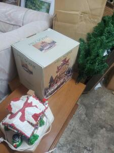 A great Christmas lot to include a 7.5' lighted tree