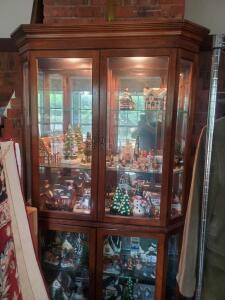 A stunning lighted curio cabinet, *contents NOT included!*