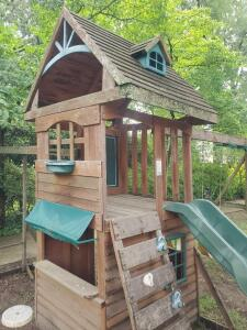"A ""big back yard"" playhouse for kids, made by solowave"