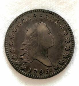 1795 US Silver Half Dollar in very good condition, uncleaned
