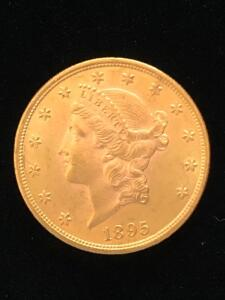 1895 US Twenty Dollar Gold Liberty Head coin. XF-45 Condition.