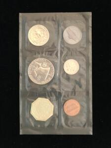 1963 US Proof Set, 5 coins, uncirculated, with US Treasury envelope