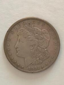 1921 US Morgan Silver Dollar. XF condition.