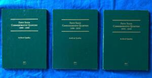 3 Books: Fifty State Commemorative Quarters 1999-2008 All complete.Inline image