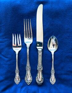 International Sterling Silver Wild Rose (8) 4 Piece place setting