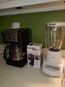 New coffee grinder, digital w/delay Mr coffee, and blender