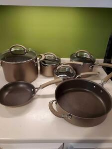 Circulon 12 piece cookware and misc pans.