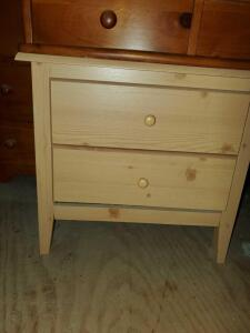 "2 drawer nightstand. 24x16x21"" tall. Located in attic."