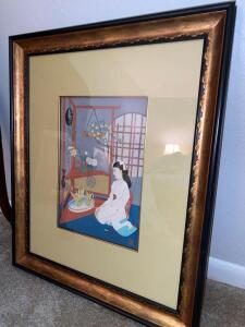 Framed print of oriental influence