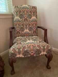 Fabulous upholstered occasional chair with tall back