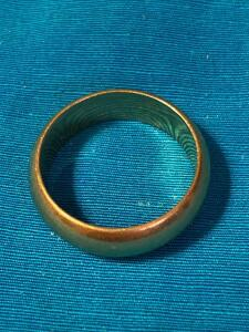 14 Karat gold wedding band size 6 1/2
