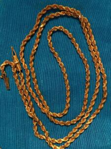 14 karat gold rope necklace 13.3 g total weight 24 inches long