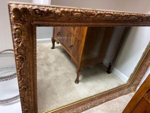 Fabulous, very heavy framed mirror