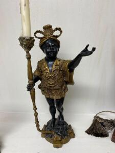 Heavy candle holder figurine