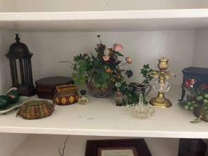 Shelf of decorative items