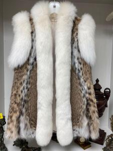 Rabbit mink vest size medium