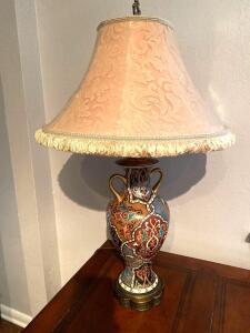 Ginger jar style lamp with fabulous colors