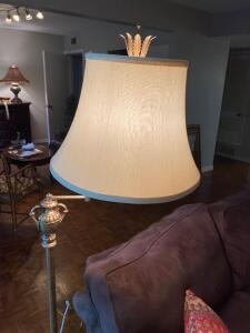 "Gold floor lamp 63"" tall"