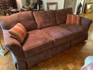 Woodmark Howard Miller Furniture Brown sofa
