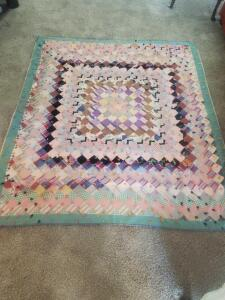"Beautiful handmade hand tied patchwork quilt. 75"" x 68"""