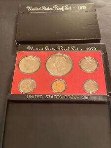 Two 1973 United States proof sets