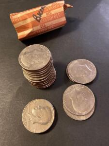 $10 worth of bicentennial Kennedy half dollars