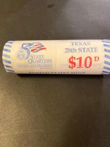 $10 worth of 2004 Texas state quarters, uncirculated