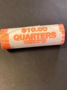 1999 Georgia state quarter roll of $10 worth, uncirculated