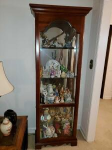 "Beautiful curio cabinet. 28 x 11 x 76"" tall. Contents not included."