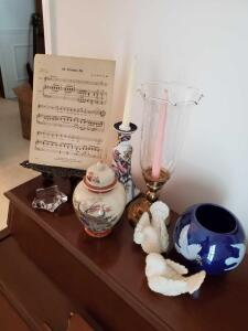 Items on piano as pictured.