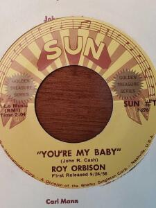 Fantastic find! Two sun record 45's. Jerry lee lewis and roy orbison.