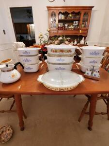 Fabulous grouping of Corning Ware. 23 pieces.