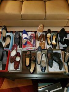 12 pair of Ladies quality shoes in size 8 1/2 - 9.
