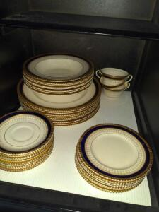 Ambassador Ware navy and gold dinner set