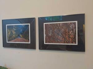 Pair of framed and matted outdoor photographs