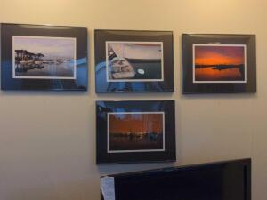 Collection of framed and matted nautical photography